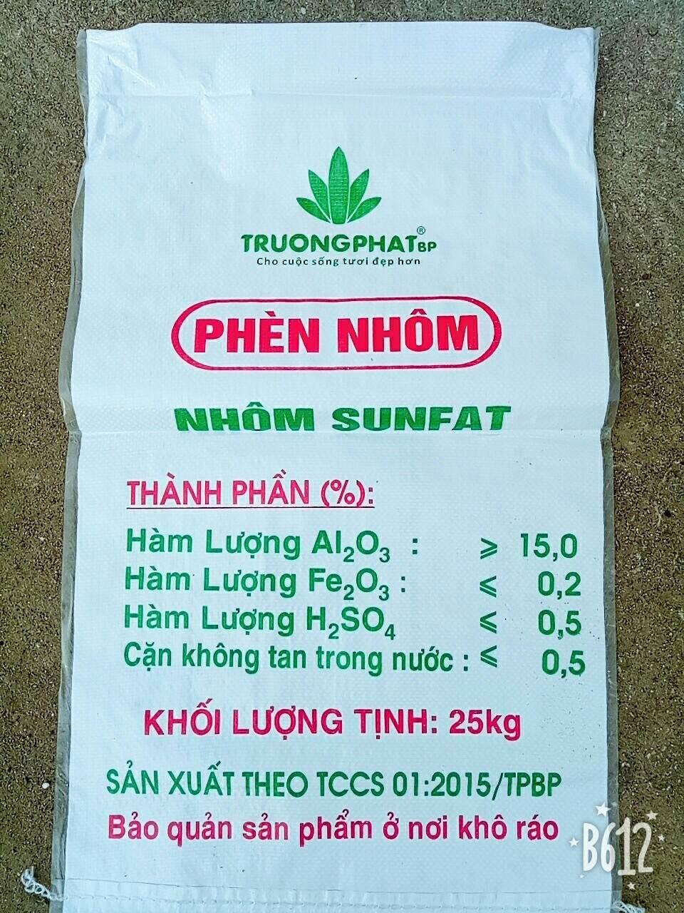 Phèn đơn Aluminium Sulfate (nhôm sunfat Al2(SO4)3.18H2O) hóa chất biên hòa đồng nai